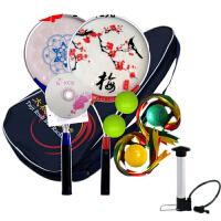 柔力球初学者太极铝合金柔力球拍女健身用品中老年梅花双面柔力球套装男
