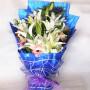 全国鲜花速递 19朵百合 母亲节鲜花 教师节礼品鲜花节日鲜花生日礼品鲜花 送长辈探望鲜花