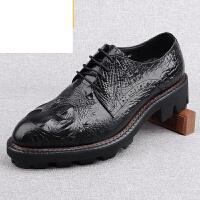 CUM新款英伦鳄鱼纹男士商务正装皮鞋男加厚橡胶大底尊贵欧版男鞋