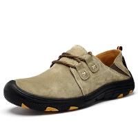 男士休闲皮鞋户外登山鞋懒人徒步防水旅游鞋越野运动防滑男鞋