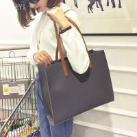 女士包包2018新款时尚欧美子母包单肩包手提包百搭大包潮大容量潮 灰色