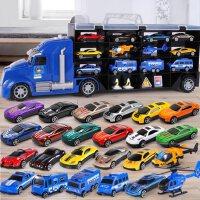 儿童玩具车小汽车套装各类车消防工程8三四五宝宝3-4-6岁男孩益智