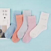 袜子女竹纤维棉桑蚕丝女士袜子韩版中筒袜春夏季薄款防臭