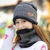 帽子男冬季女士套头帽加厚保暖毛线帽加绒骑车防风护耳百搭针织帽新品 灰色 男女通用 可调节