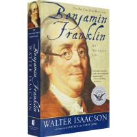 富兰克林传 英文原版 Benjamin Franklin 一个美国人的生活 英文版人物传记 现货正版进口英语书籍