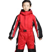 户外儿童连体滑雪服男童女童小孩加厚保暖单双板冲锋滑雪衣裤套装新品