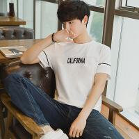 男士短袖T恤圆领2018夏季新款休闲男装男式短袖上衣体恤衫