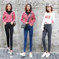 冬季高腰牛仔裤女加绒外穿韩版修身小脚长裤子女带绒加棉保暖