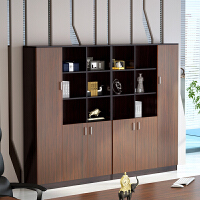 办公家具书柜自由组合简约现代储物柜带门书架置物柜办公书房家具 300mm