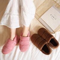 棉鞋男士冬季情侣居家室内厚底防滑月子毛绒包跟棉拖鞋女
