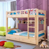 实木双层床上下铺学生宿舍上下木床员工松木高低儿童母子床