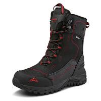户外雪地靴男防水保暖加绒防滑登山靴大码棉鞋滑雪鞋零下30度