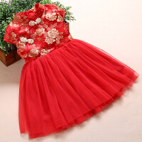 少儿民族风舞蹈演出表演服装 六一儿童节公主纱裙 幼儿园古典古装