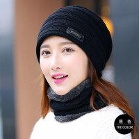 毛线帽子女韩版针织简约青年女士潮休闲护耳帽保暖帽子