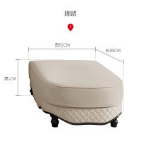 欧式沙发组合客厅简欧皮质美式小户型转角轻奢客厅实木家具 组合