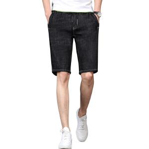 JEEP吉普牛仔短裤夏装新款休闲中裤男士纯棉修身简约中腰五分裤男士短裤子
