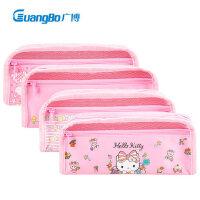 hello kitty笔袋韩版可爱卡通女童女孩小学生幼儿园KT猫文具盒简约凯蒂猫迪士尼玩具总动员男童大容量文具袋