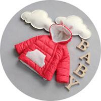 宝宝冬装男0-1岁婴儿冬季开衫小棉袄男童棉衣加绒加厚外套潮