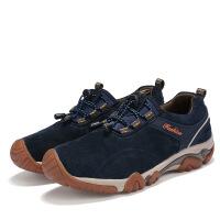 夏季男士户外登山鞋新款复古系带时尚运动休闲鞋圆头低帮单子男潮