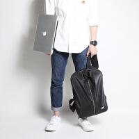 双肩包男15.6寸电脑包充电旅行包大学生书包女双肩背包运动书包LT 黑色 防水背包