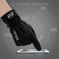 男女款骑行保暖加厚防风运动滑雪运动手套户外触屏抓绒手套