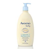 【身体乳532ml】保税区发货 Aveeno艾维诺 婴儿无香日常保湿身体乳 18oz浅蓝 海外购