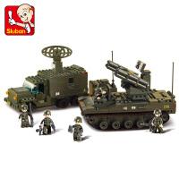 【当当自营】小鲁班陆军部队军事系列儿童益智拼装积木玩具 炮兵连M38-B6700