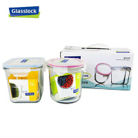 三光云彩GlassLock 韩国进口玻璃乐扣保鲜盒可微波炉创意饭盒礼品装两件组GL44