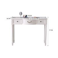 20190816113720402美式电脑桌台式家用田园书桌学习桌现代简约写字台实木办公桌白色 否