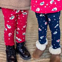*儿童装女童加绒加厚棉裤子2018春冬装新款宝宝保暖裤A074