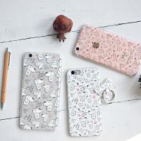 新款 �有牧计房砂�熊 苹果手机壳 iphone6/plus手机保护套 指环支架礼品套装