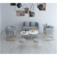 铁艺西餐厅卡座沙发 奶茶店办公商务接待双人沙发 咖啡厅桌椅组合 其他