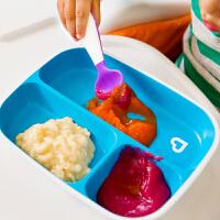 【当当自营】满趣健(munchkin)防溅分隔盘2只装 婴儿辅食盘宝宝辅食餐具