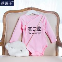 婴儿连体衣三角哈衣春装0岁3月宝宝包屁衣新生儿衣服冬季