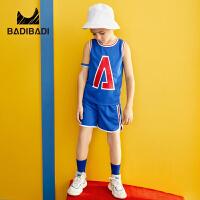 【2件4折:65】巴拉巴拉旗下巴帝巴帝童装男童套装2019春夏新款篮球服背心两件套吸汗透气