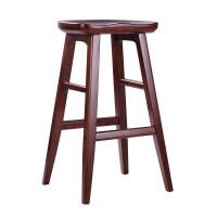 实木吧台椅吧凳美式现代简约前台凳子创意欧式家用高脚凳酒吧椅子
