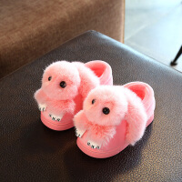 宝宝拖鞋冬包跟可爱兔子毛绒女童棉托鞋棉拖鞋防滑男室内棉鞋
