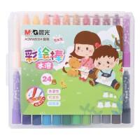 晨光蜡笔彩绘棒 水溶性12色 炫彩棒 可洗18色油画棒24色无毒绘彩棒