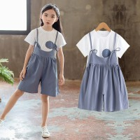 女童夏装套装2018新款韩版儿童装吊带裤两件套小女孩洋气时髦潮衣