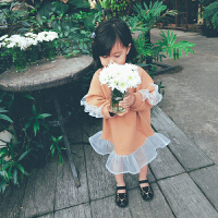母女装春装2018新款潮欧根纱裙子花边长裙夏季亲子装连衣裙
