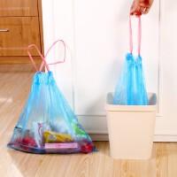 10卷装垃圾袋家用加厚手提式一次性卫生间中号抽绳拉机自动收口厨房塑料颜色随机 垃圾袋