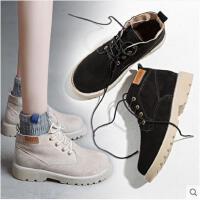 马丁靴女短靴新款秋冬季韩版百搭机车靴英伦风复古沙漠女靴子