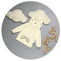 男宝宝外套春秋纯棉新生儿衣服秋凉0-3-6-9个月百天婴儿上衣开衫