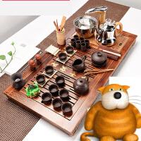 紫砂功夫茶具套装家用实木茶盘全自动上水电热磁炉茶台茶道s3v