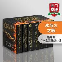 华研原版 冰与火之歌英文版原版全套小说 A Song of Ice and Fire 权力的游戏 7本盒装 英文原版小说 正版进口英语书籍