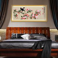 5D新款丝带绣 鸟语花香 印花丝带十字绣客厅卧室大挂画
