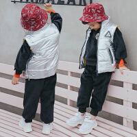 儿童马甲宝宝卫衣三件套冬装儿童韩版潮童装男童套装冬款