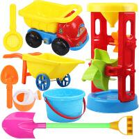 大号宝宝沙滩玩具车套装玩沙子挖沙漏铲子工具决明子婴儿儿童玩具