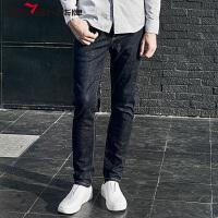 柒牌2017新品牛仔裤 男青年男士休闲时尚深色修身休闲牛仔长裤子