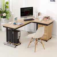 新款定做转角电脑桌墙角拐角办公桌L型书桌子台式家用简约写字台
